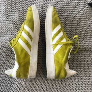 ADIDAS LIME GREEN SNEAKERS